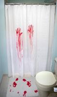 кровавые шторки в ванную
