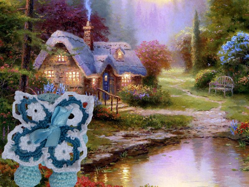Мишка-фея и ее домик