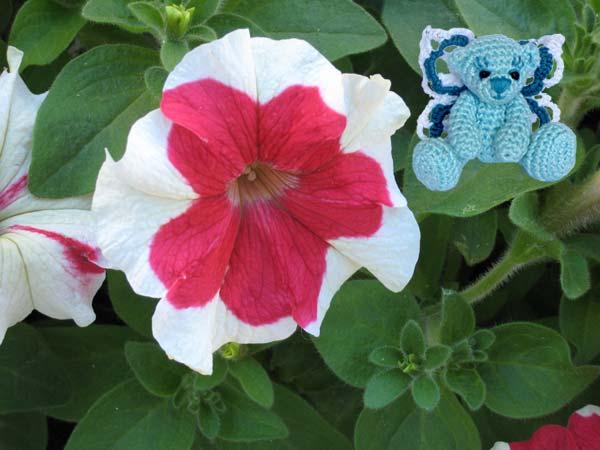 Мишка-фея и цветок