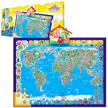 Говорящая карта мира