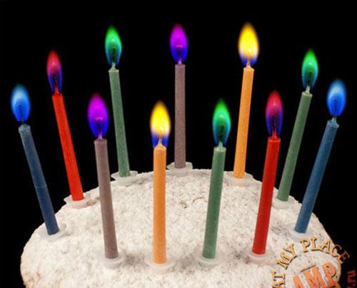 Свечи с разноцветным пламенем