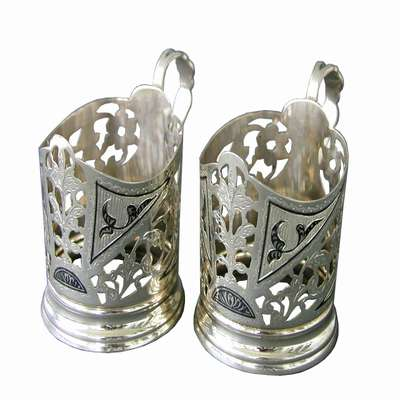 Серебряные подстаканники Кубачи