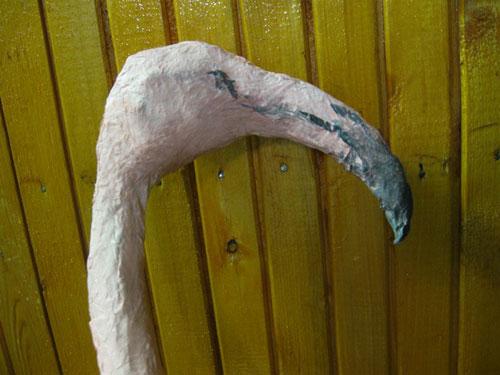 Фламинго из папье-маше своими руками