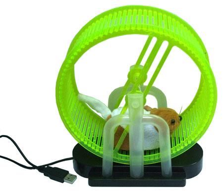 USB-хомяк в колесе