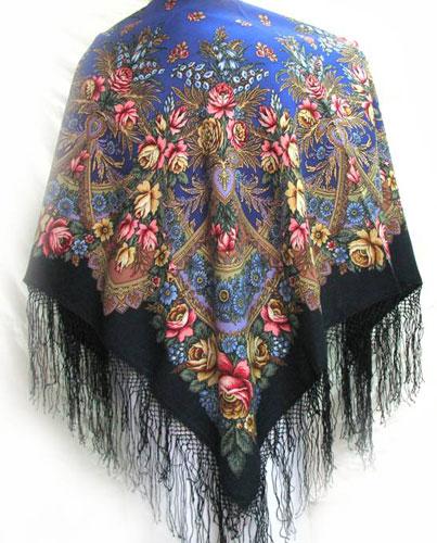 Подарок иностранцу - павловопосадский платок