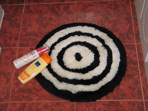 Тестируем круглый коврик...