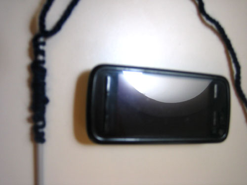Вязаный чехольчик для мобильника