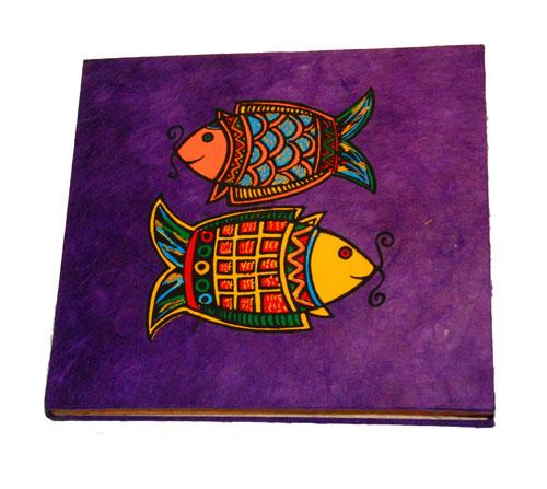 Фиолетовый блокнот
