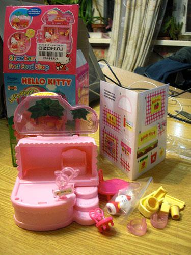 Тестируем подарок - домик Hello Kitty