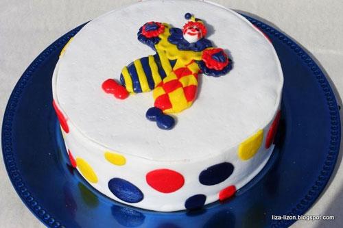 Торт «Клоун» из мастики своими руками