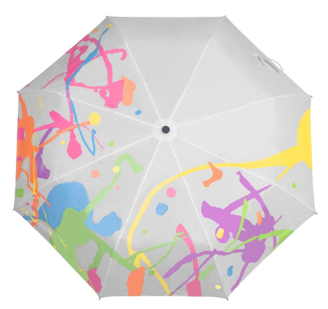 Белый мокрый зонт