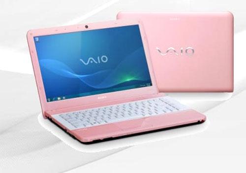 Розовый ноутбук