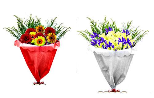 Примеры собранных букетов