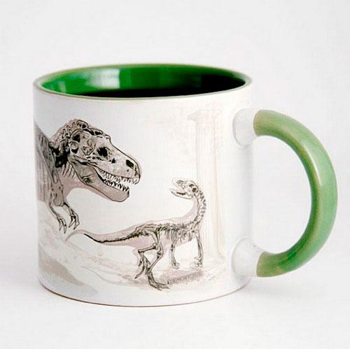 Кружка «Вымирающий динозавр» - нагретая