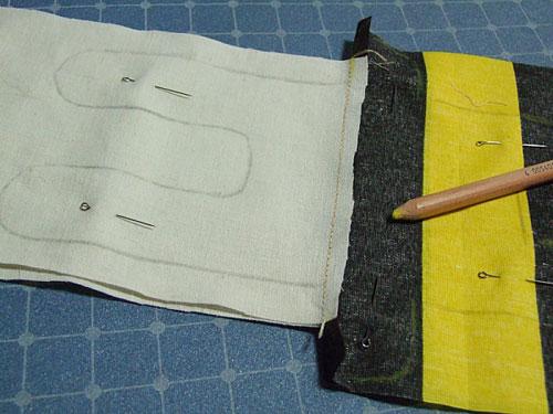 Перенести выкройку на ткань
