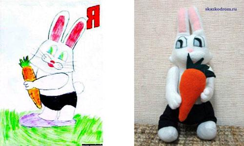 Рисунок и готовая игрушка