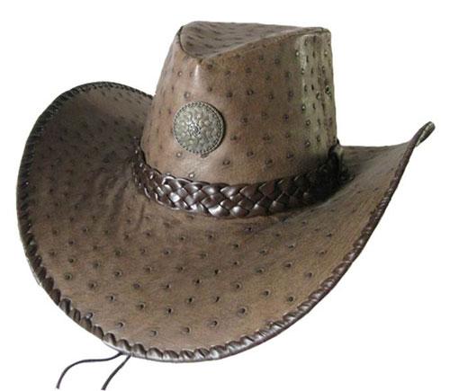 Ковбойская шляпа из кожи страуса