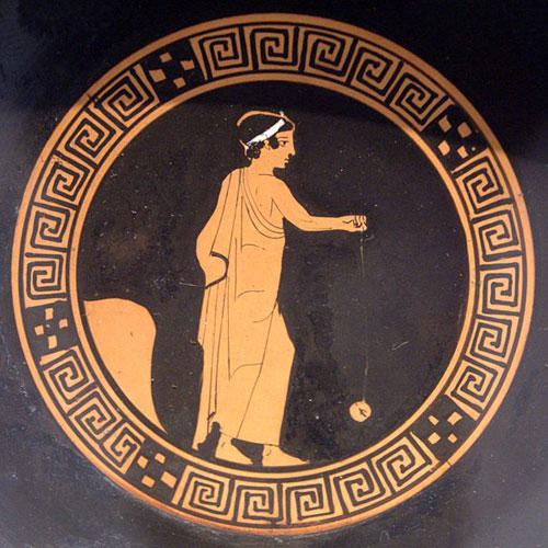 Йо-йо на древнегреческой вазе