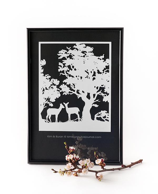 Весенние олени