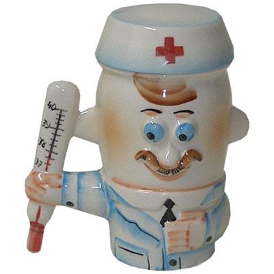 Кружка-врач с крышкой в виде шапочки