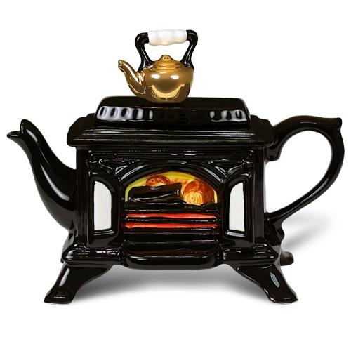Чайник с изображением печки