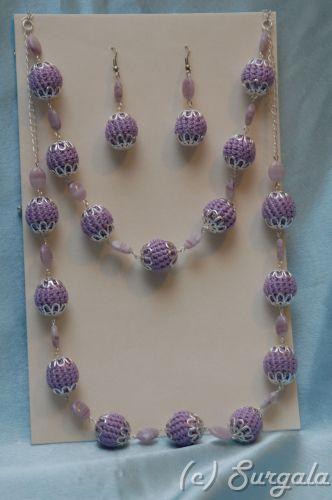 Фиолетовые бусы
