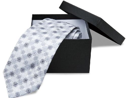 Элегантный серый галстук
