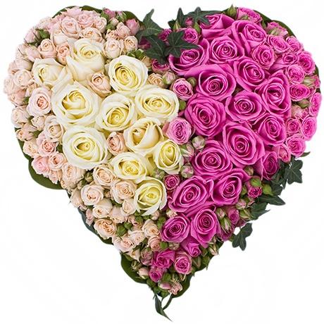 Сердце из роз!