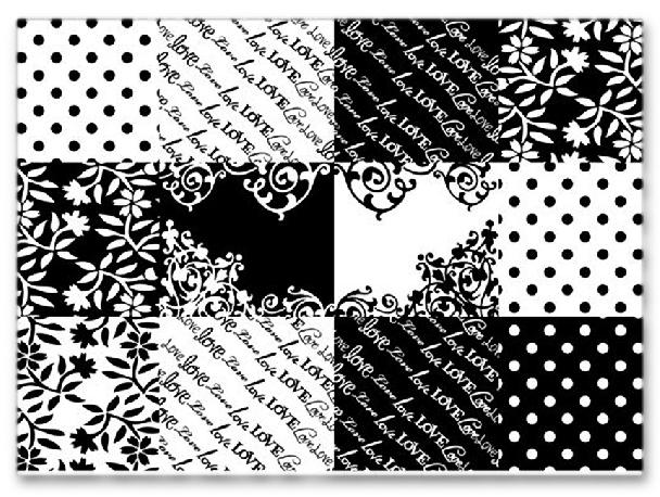 Черно-белая наклейка