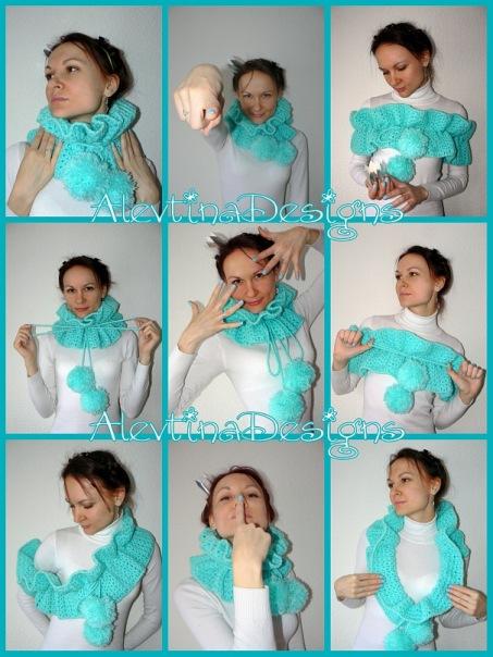 Голубенький шарфик