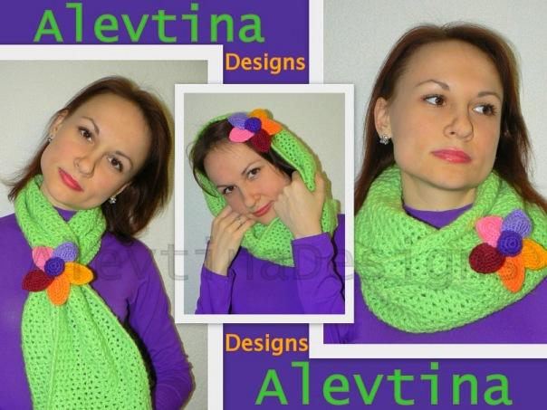 Зелененький шарфик