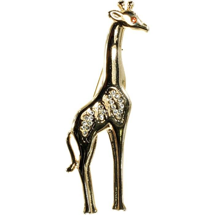 жираф брошь