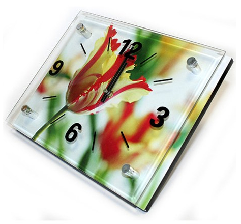 Часы с тюльпанами