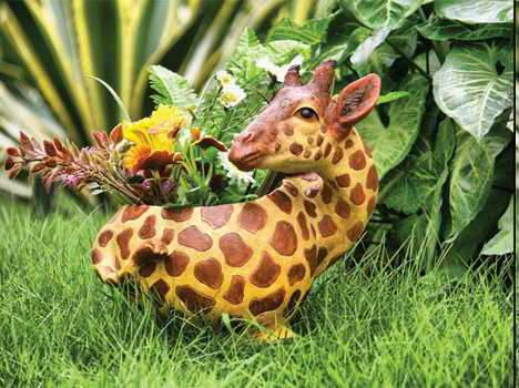 жираф кашпо