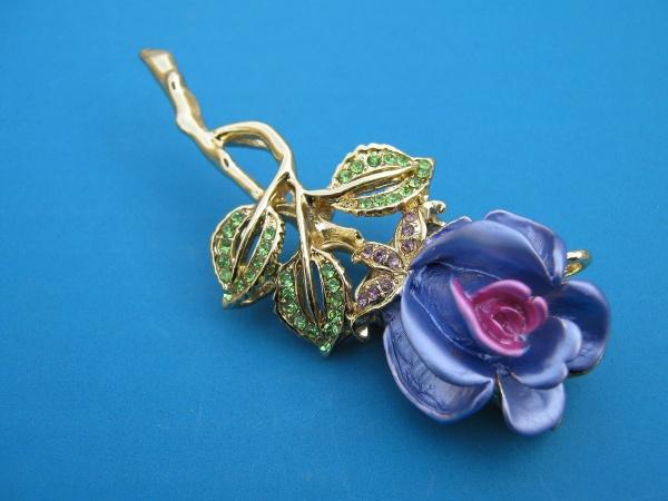 Флешка-синяя роза
