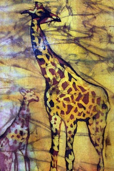 жираф батик