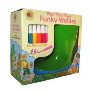 Детские креативные резиновые сапоги можно рисовать