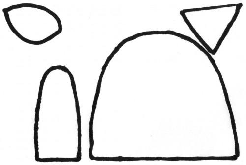 Выкройка грелочек
