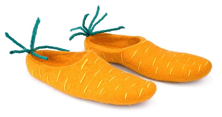 тапки морковки