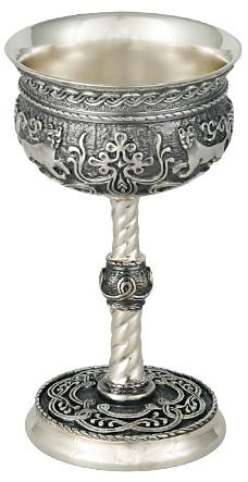 бокал серебряный