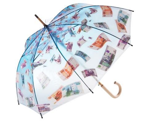 зонт денежный дождь