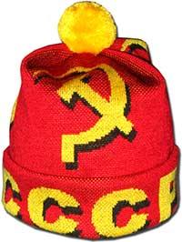 Шапка с помпоном советская