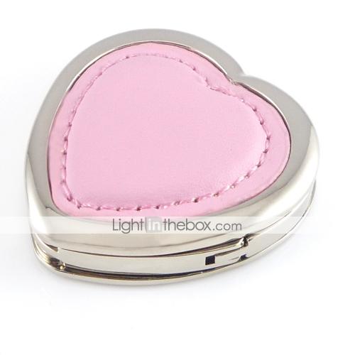 Вешалка-брелок Pink Leather Heart-shaped