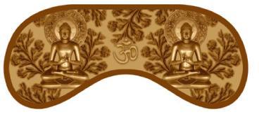 маска для сна будда
