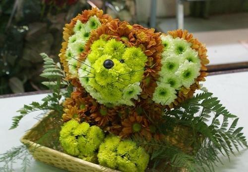 Игрушки из цветов. Мышонок