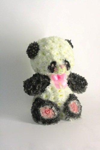 Игрушки из цветов. Панда
