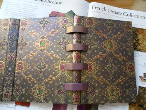 записные книжки paperblanks обложка с узором лионский шелк