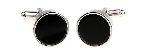 Запонки Черный круг