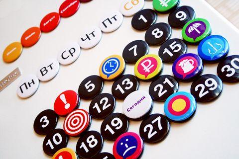 Собери свой календарь из магнитов