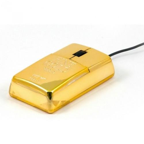 Мышка в виде слитка золота